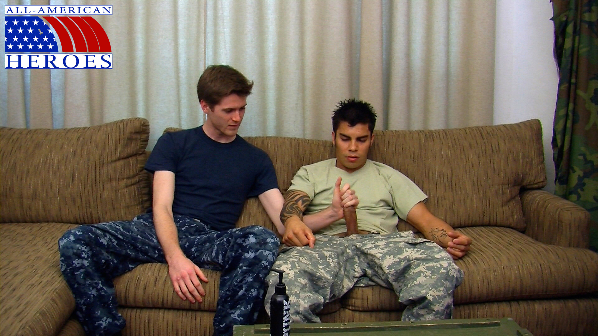 All American Heroes Sergeant Tony and Petty Officer Conan 01 Real Straight Army Sergeant Fucks a Gay Navy Petty Officer