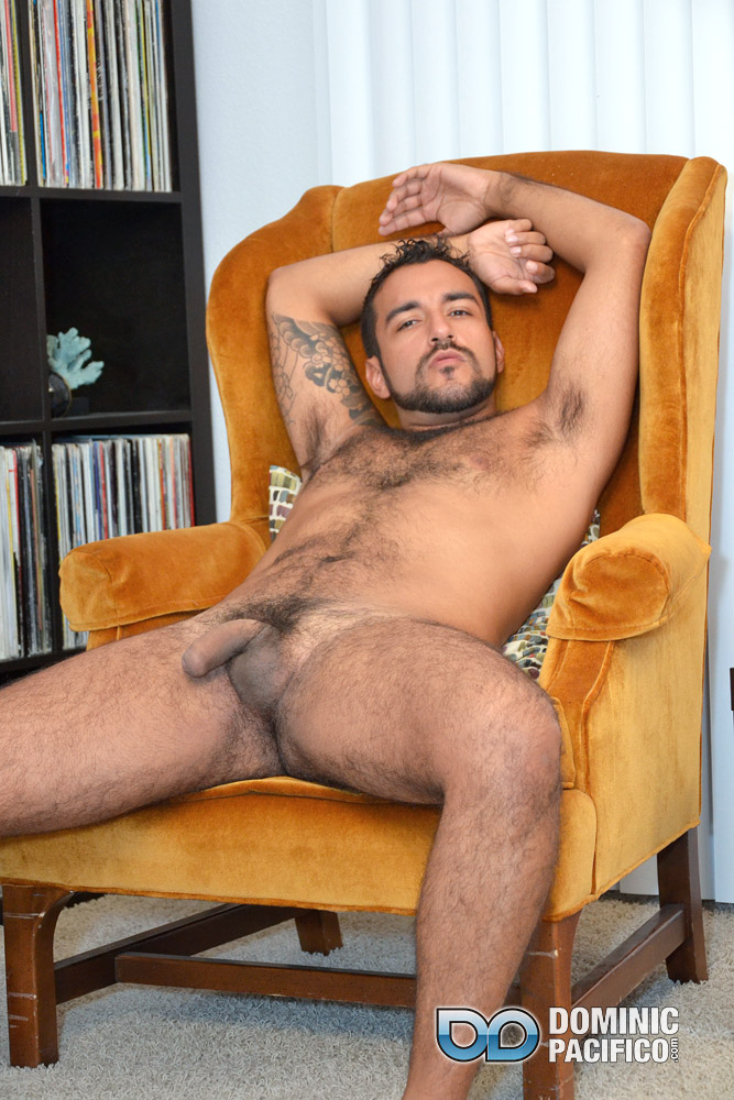 DOMINIC-PACIFICO-Nicko-Morales-Big-Uncut-Cock-Masturbation-Amateur-Gay-Porn-13 Amateur Straight Muscular Hairy Hunk With Huge Uncut Cock Jerks Out A Huge Cum Load