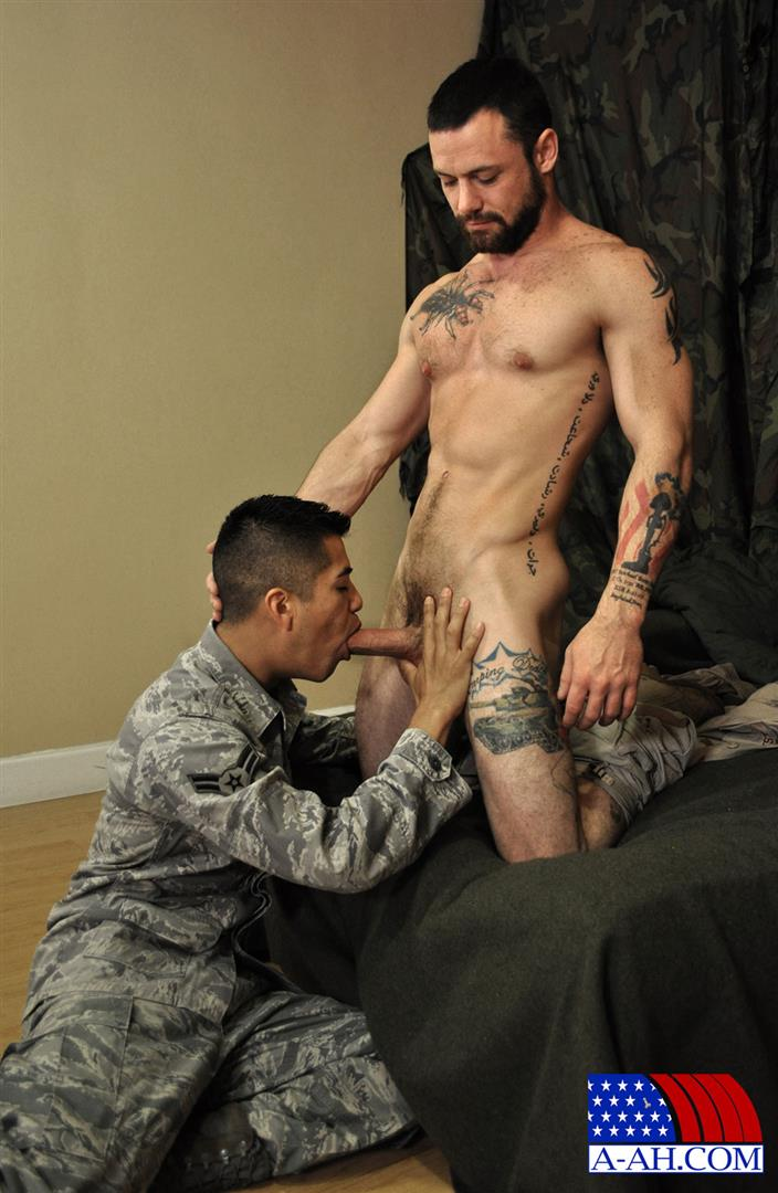 All American Heroes SERGEANT MILES AND AIRMAN FIRST CLASS PAOLO swapping blow jobs and cum Amateur Gay Porn 04 Army Sergeant and an Airman Trade Blow Jobs And Eat Cum