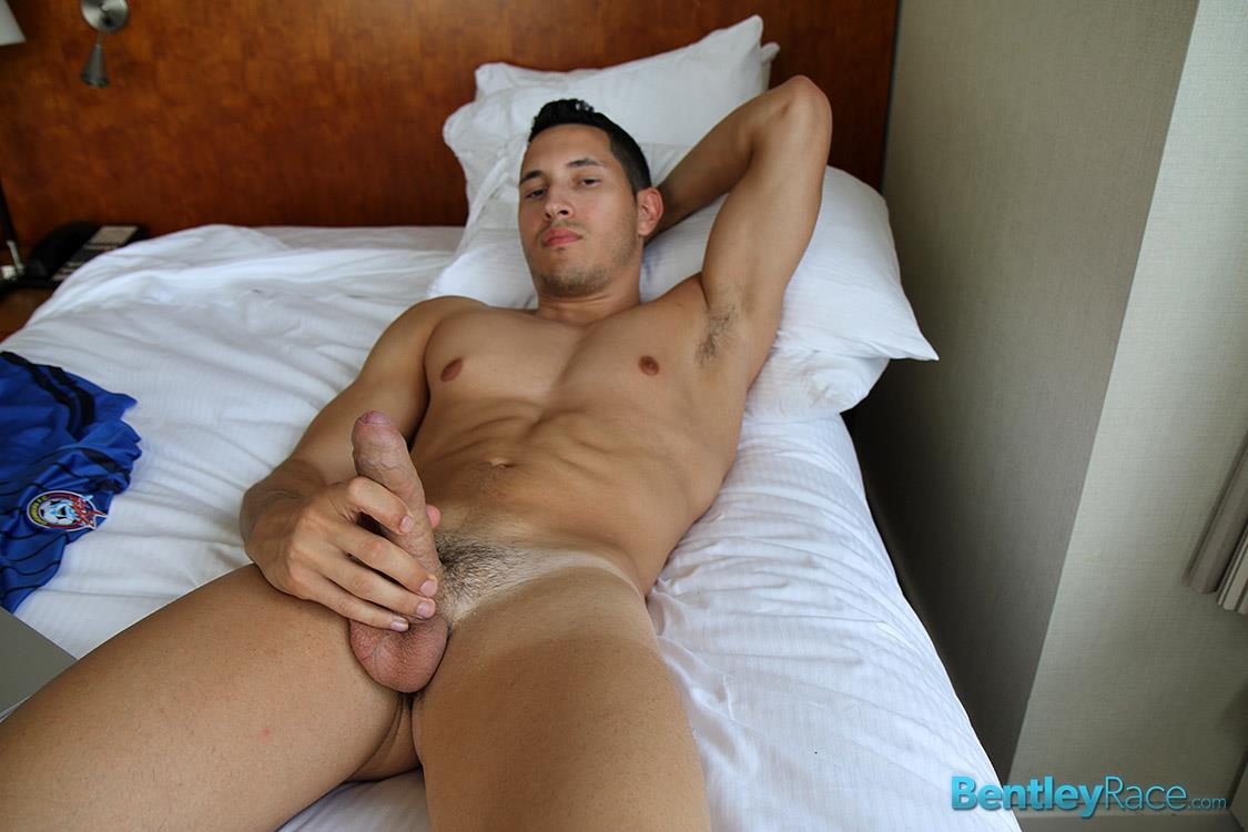 Bentley-Race-Vinnie-Gambino-Straight-Italian-Jock-With-A-Huge-Uncut-Cock-Amateur-Gay-Porn-25 Amateur Straight Italian Jock Jerks Off His Huge Uncut Cock