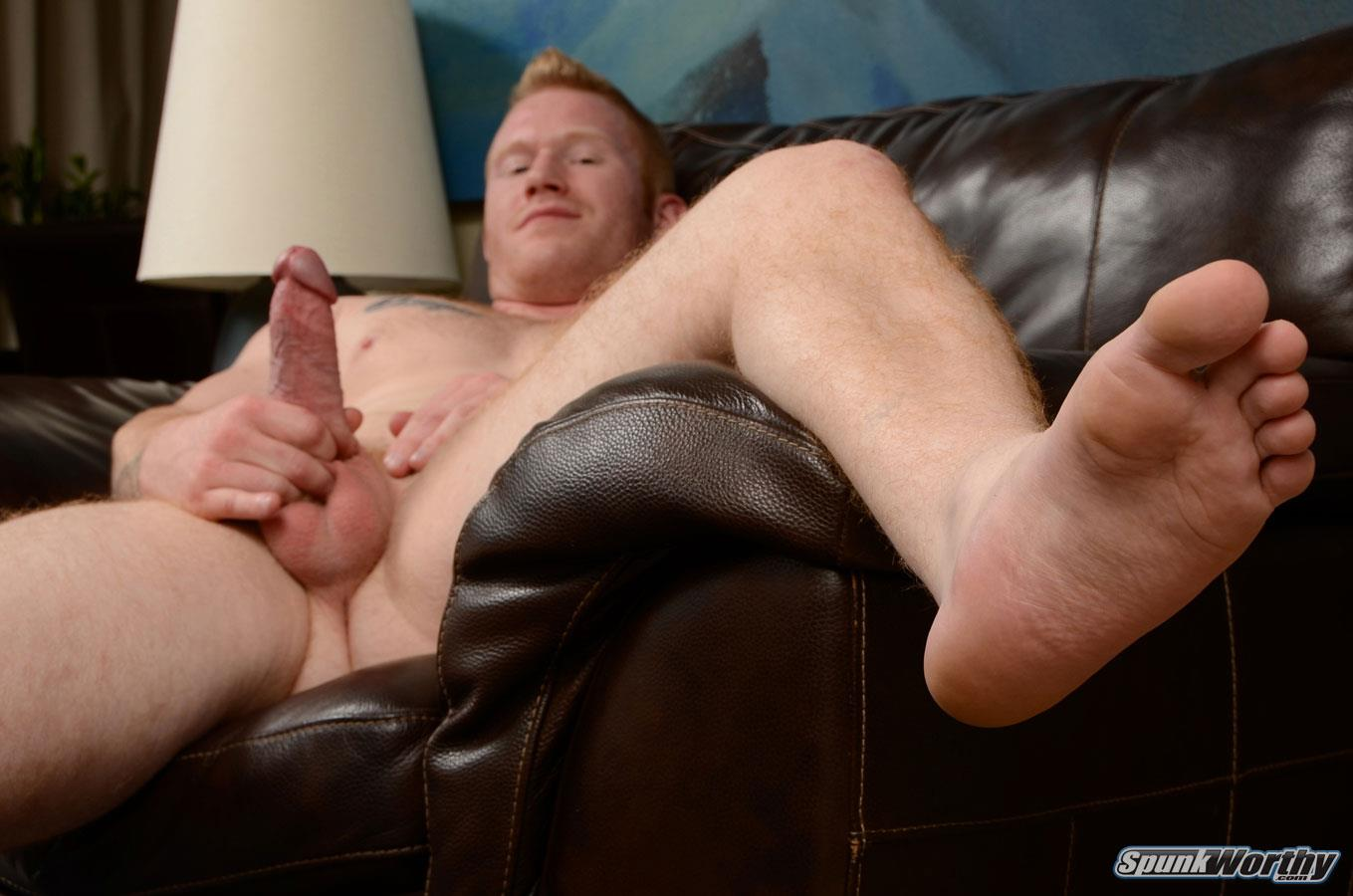 SpunkWorthy-Perry-Straight-Redhead-With-A-Big-Cock-Jerking-Off-Amateur-Gay-Porn-16 Straight Hunky Redhead Jerking Off His Big Ginger Cock