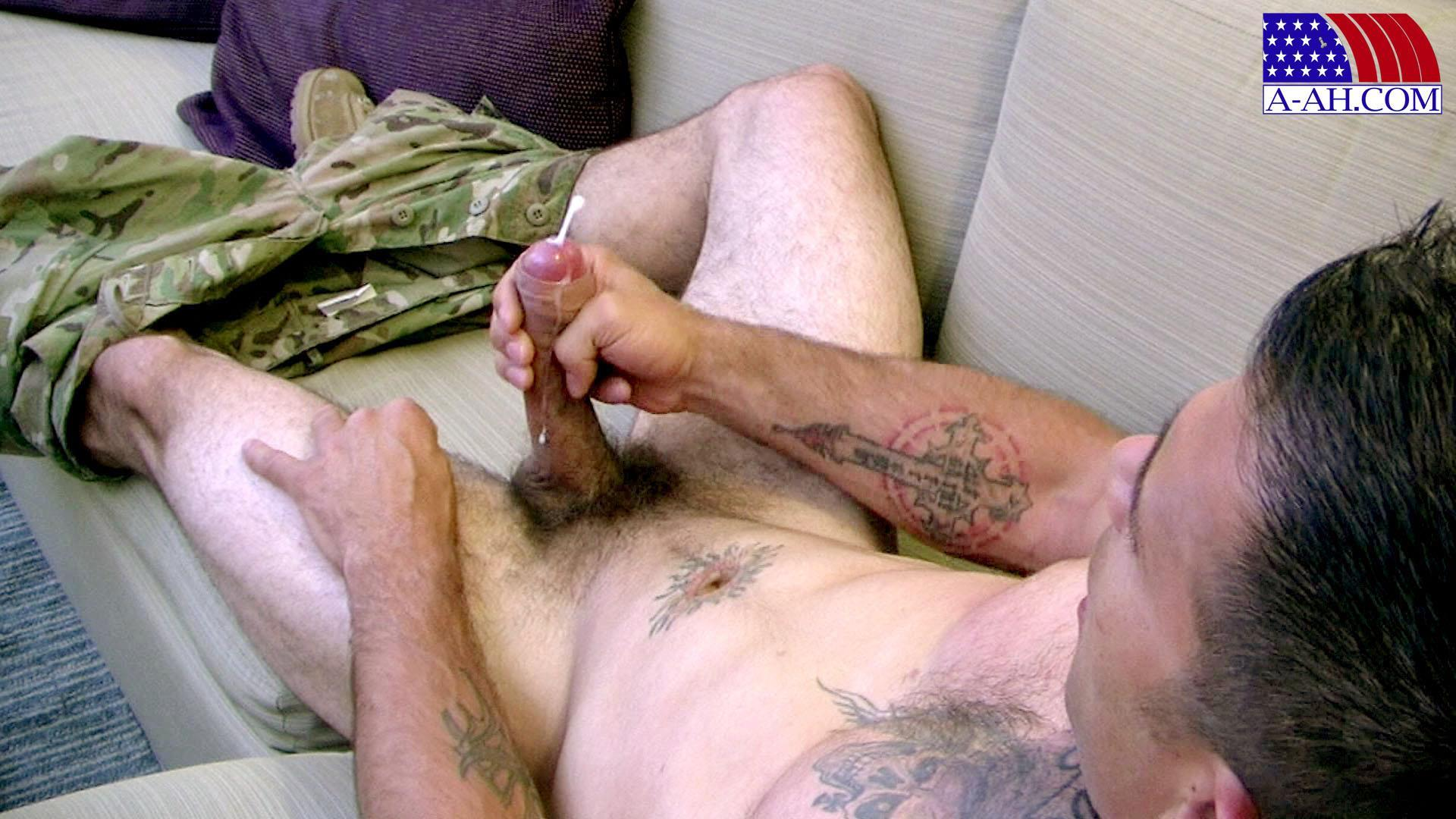 All American Heroes JB US Amry Soldier Jerking His Big Uncut Cock Amateur Gay Porn 15 Amateur Straight US Army Specialist Stroking His Big Uncut Cock