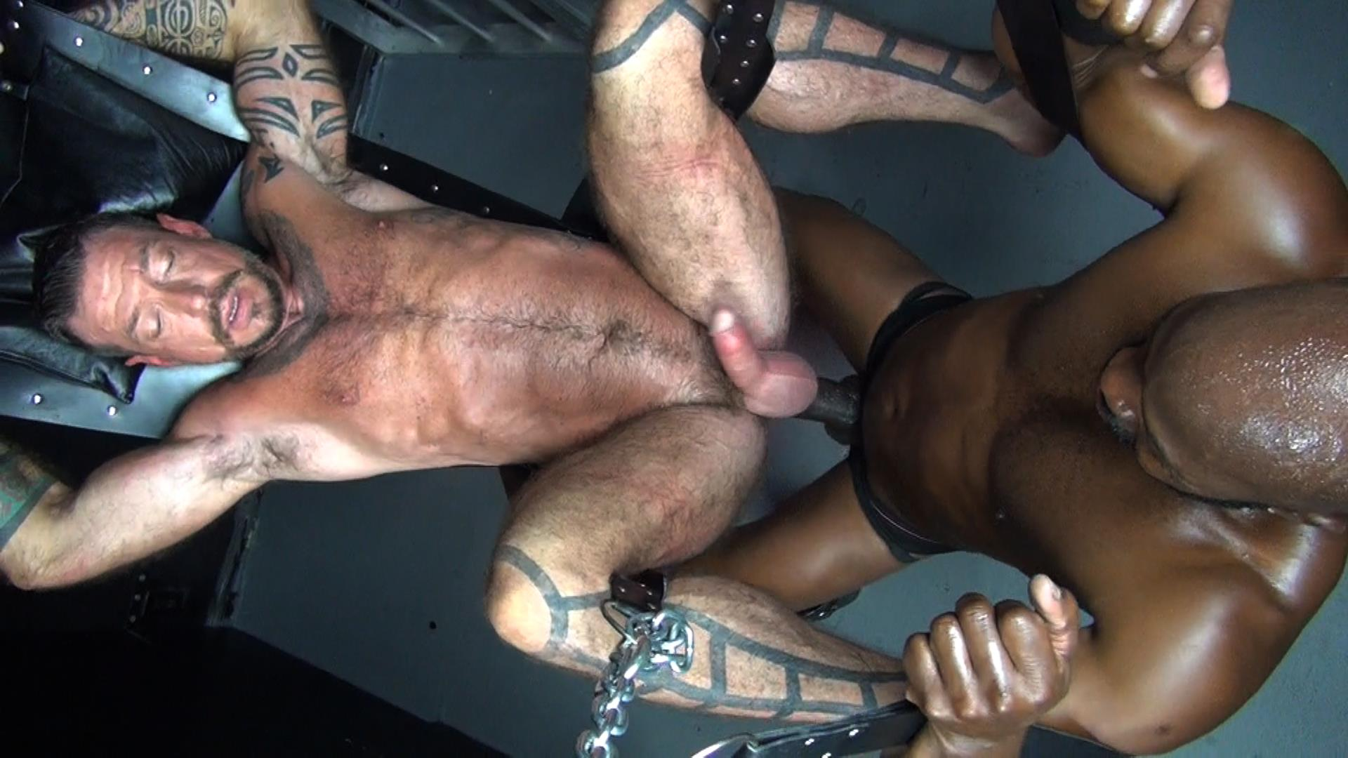 Raw Fuck Club Cutler X and Ray Dalton Interracial Bareback Sex Amateur Gay Porn 2 Cutler X Barebacking Hairy Muscle Daddy Ray Dalton With His Big Black Cock