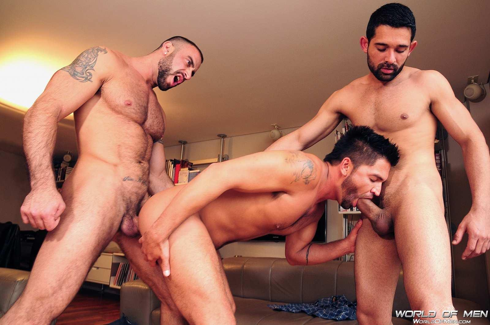 World-Of-Men-Spencer-Reed-and-Dominic-Pacifico-and-Billy-Baval-Taking-Two-Huge-Cocks-Up-The-Ass-Tagteam-Amateur-Gay-Porn-07 Dominic Pacifico Getting Tag Teamed By Two Huge Cocks