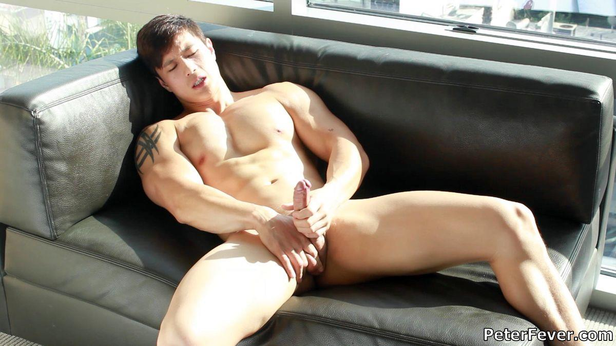 Peter-Fever-Peter-Le-Muscular-Naked-Chinese-Guy-With-Big-Uncut-Cock-Amateur-Gay-Porn-12 Muscular Asian Peter Le Jerking His Big Uncut Asian Cock