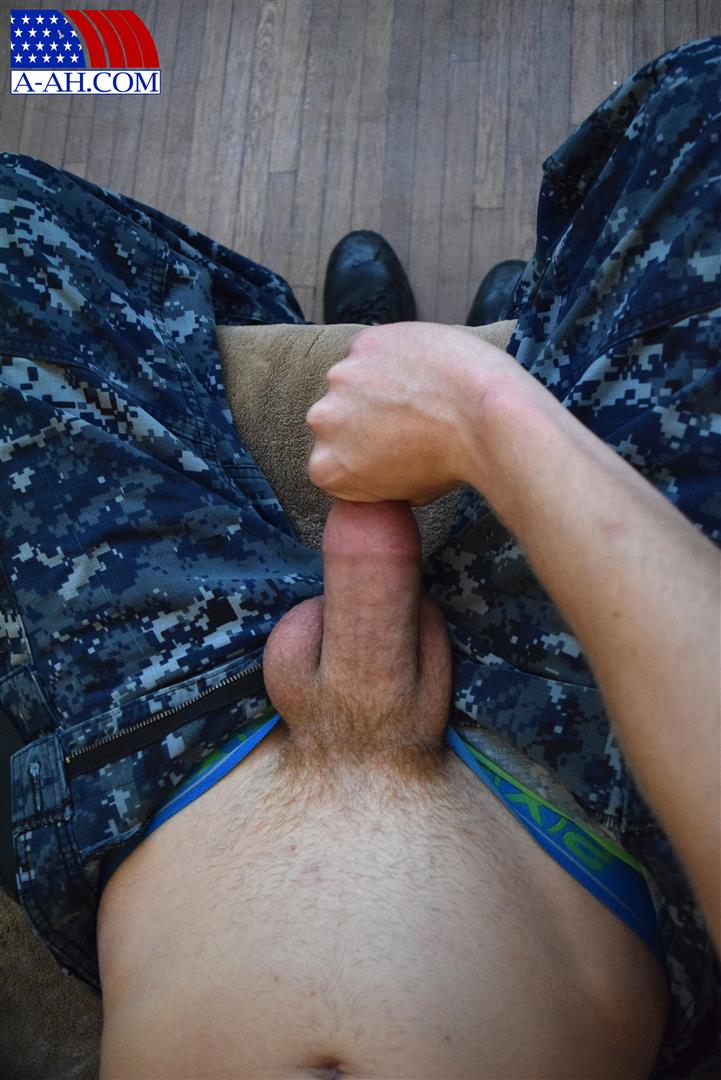 All-American-Heroes-Petty-Officer-Jacob-Big-Cock-Jerk-Off-Naked-Navy-Guy-Amateur-Gay-Porn-05 Young Navy Petty Officer Jerking His Thick Cock & Fingering His Ass