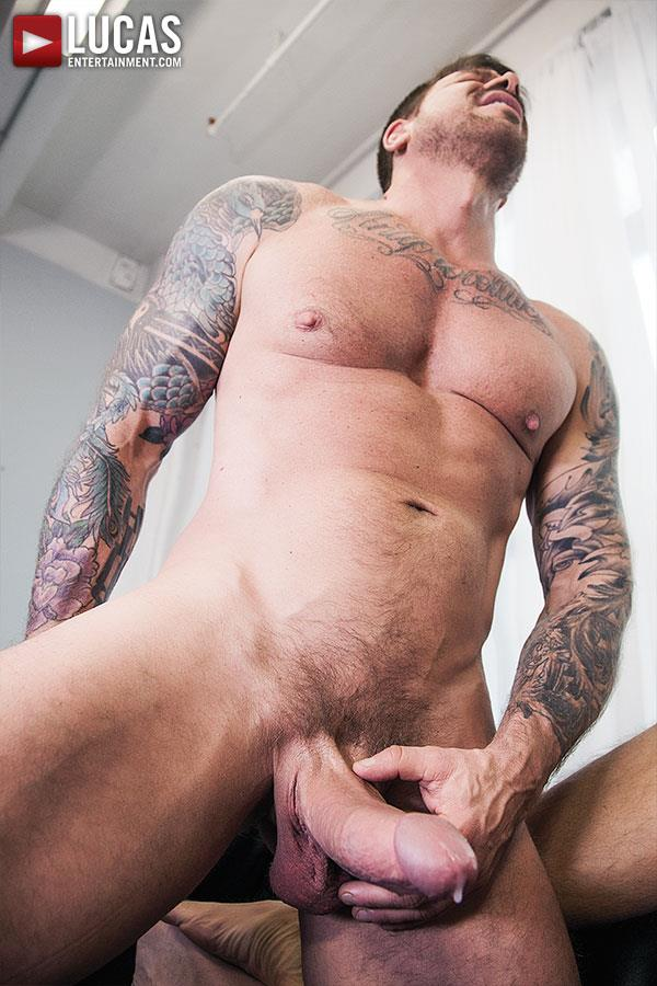 Lucas Entertainment Rocco Steele and Dolf Dietrich Big Cock Barback Muscle Hunks Amateur Gay Porn 11 Rocco Steele Breeding Dolf Dietrich With His Massive Cock