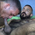 Cum Pig Men Jimmie Slater and Alessio Romero Hairy Muscle Daddy Getting Blow Job Amateur Gay Porn 11 150x150 Jimmie Slater Sucks A Load Of Cum Out Of Hairy Muscle Daddy Alessio Romero