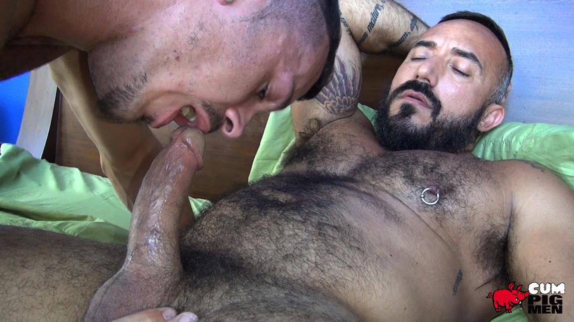Cum Pig Men Jimmie Slater and Alessio Romero Hairy Muscle Daddy Getting Blow Job Amateur Gay Porn 15 Jimmie Slater Sucks A Load Of Cum Out Of Hairy Muscle Daddy Alessio Romero