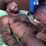 Cum Pig Men Jimmie Slater and Alessio Romero Hairy Muscle Daddy Getting Blow Job Amateur Gay Porn 34 150x150 Jimmie Slater Sucks A Load Of Cum Out Of Hairy Muscle Daddy Alessio Romero