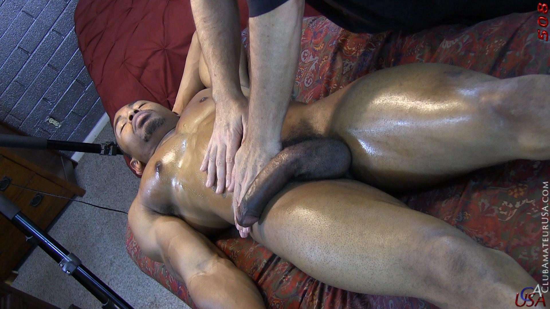Club-Amateur-USA-Gracen-Straight-Big-Black-Cock-Getting-Sucked-With-Cum-Amateur-Gay-Porn-19 Straight Ghetto Thug Gets A Massage With A Happy Ending From A Guy