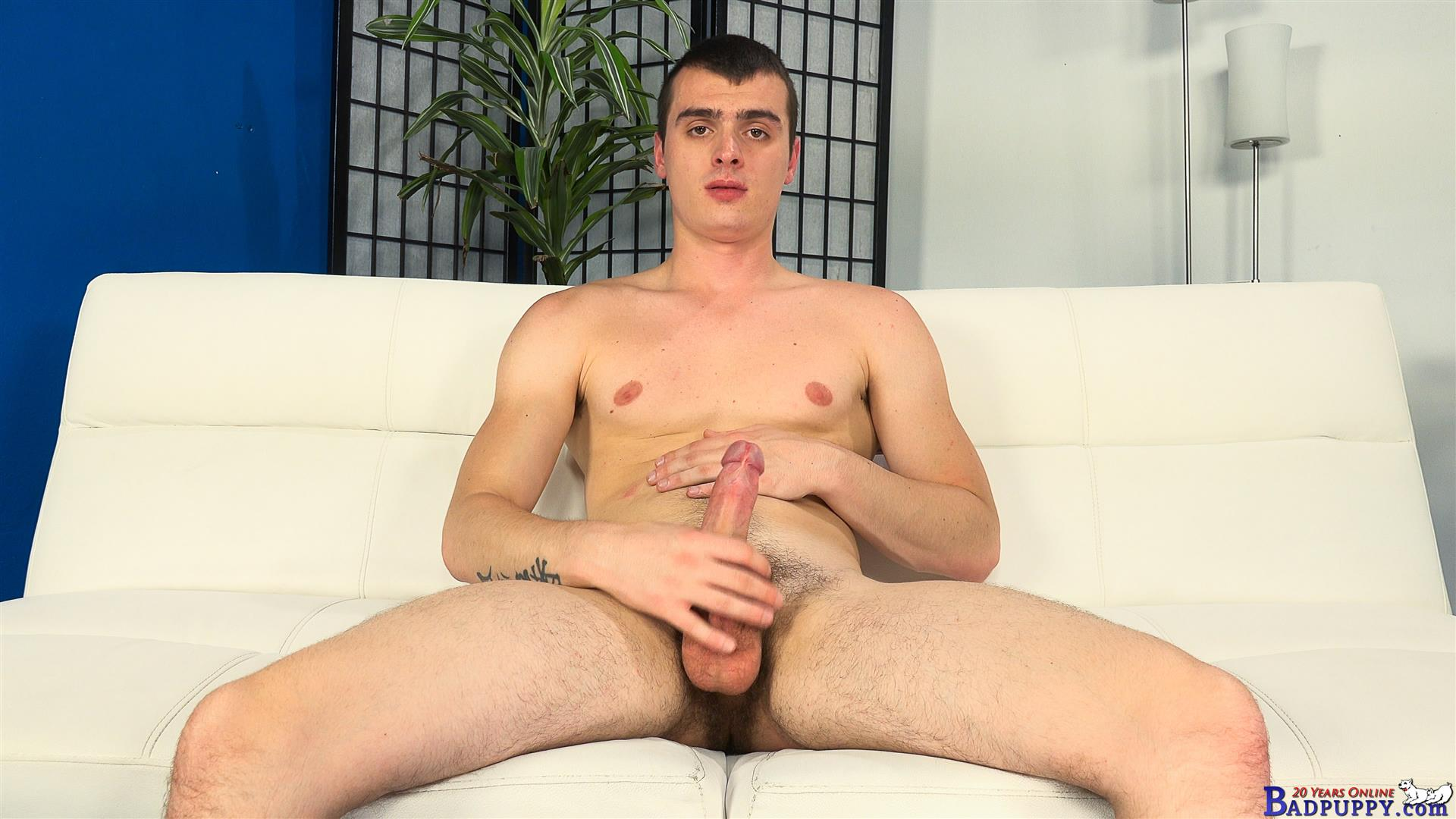 Valer-Starek-Badpuppy-Masturbation-Big-Uncut-Cock-Hairy-Ass-Amateur-Gay-Porn-12 Young Czech Guy Auditions For Gay Porn With His Big Uncut Cock And Hairy Ass