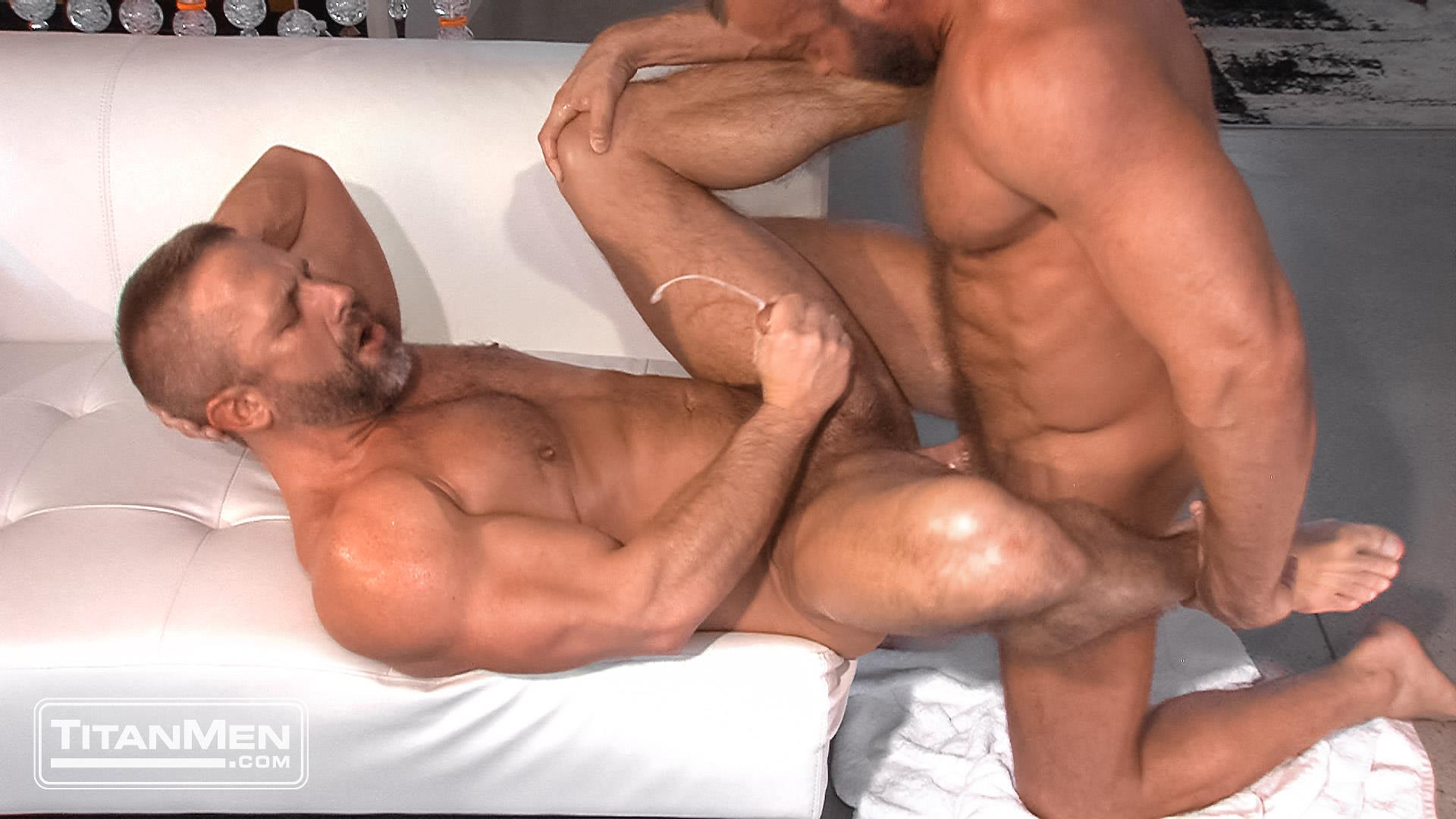 Titanmen Titan Hunter Marx and Dirk Caber Hairy Muscle Daddy Fuck Amateur Gay Porn 44 Dirk Carber Gets Fucked Hard By Another Muscle Daddy With A Thick Cock