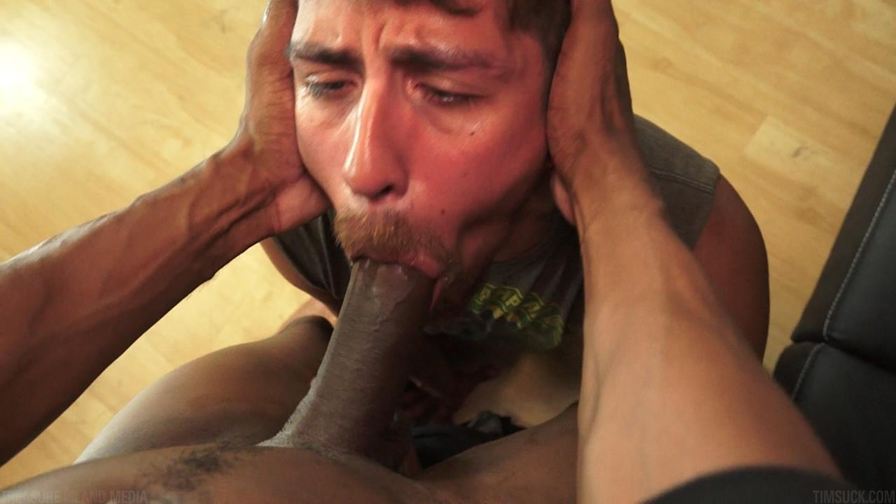 Treasure-Island-Media-TimSUCK-Tecate-and-Javin-Big-Black-Uncut-Cock-Sucking-Amateur-Gay-Porn-33 Treasure Island Media: Gagging On A 13 Inch Big Black Uncut Cock