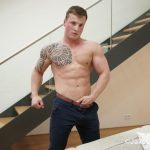 Jake Cruise Tommy Morava Muscle Hunk With Big Uncut Cock 04 150x150 European Muscle Hunk Strokes His Fat Uncut Cock