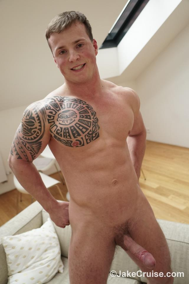 Jake-Cruise-Tommy-Morava-Muscle-Hunk-With-Big-Uncut-Cock-17 European Muscle Hunk Strokes His Fat Uncut Cock