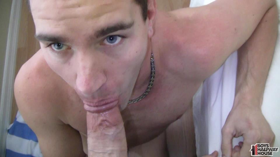 Boys-Halfway-House-Spencer-Forced-Bareback-06 Barebacking A Useless Hole And Shooting A Load In His Mouth