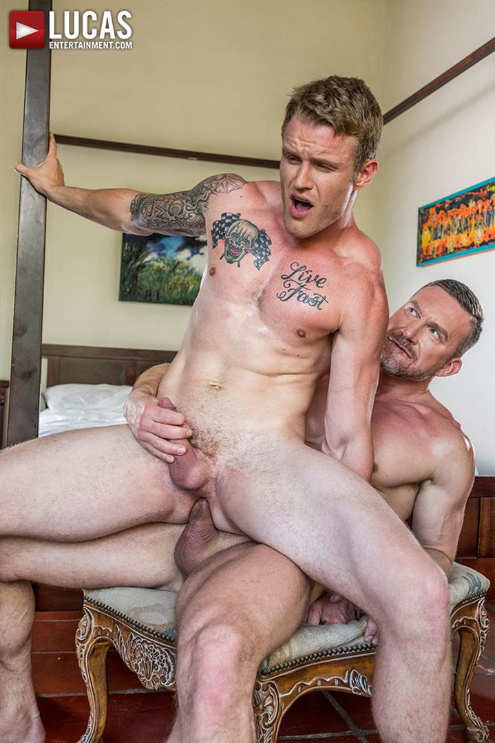 Lucas Entertainment Shawn Reeve and Tomas Brand Bareback Daddy Sex 12 Bareback Riding A Thick Uncut Daddy Dick