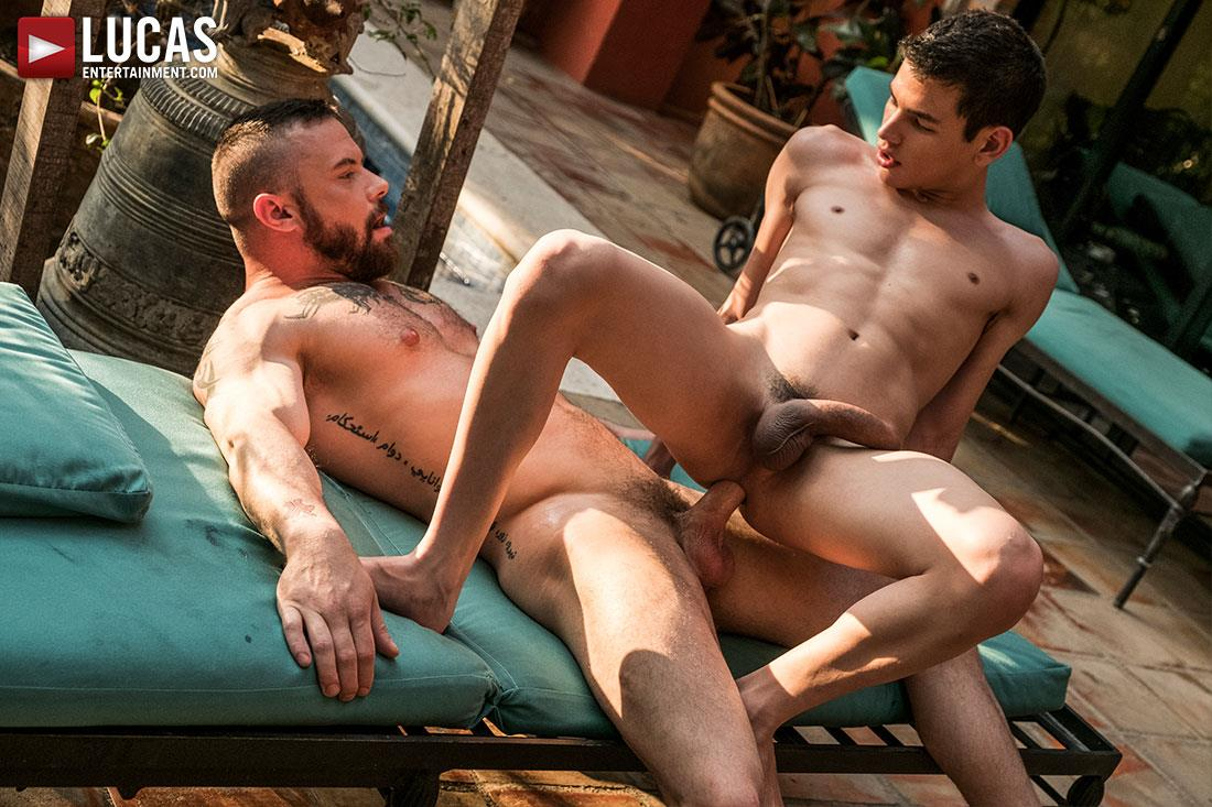 Lucas Entertainment Ricky Verez and Sergeant Miles Bareback Sex 12 Sergeant Miles Breeds A Much Younger Man With His Fat Cock