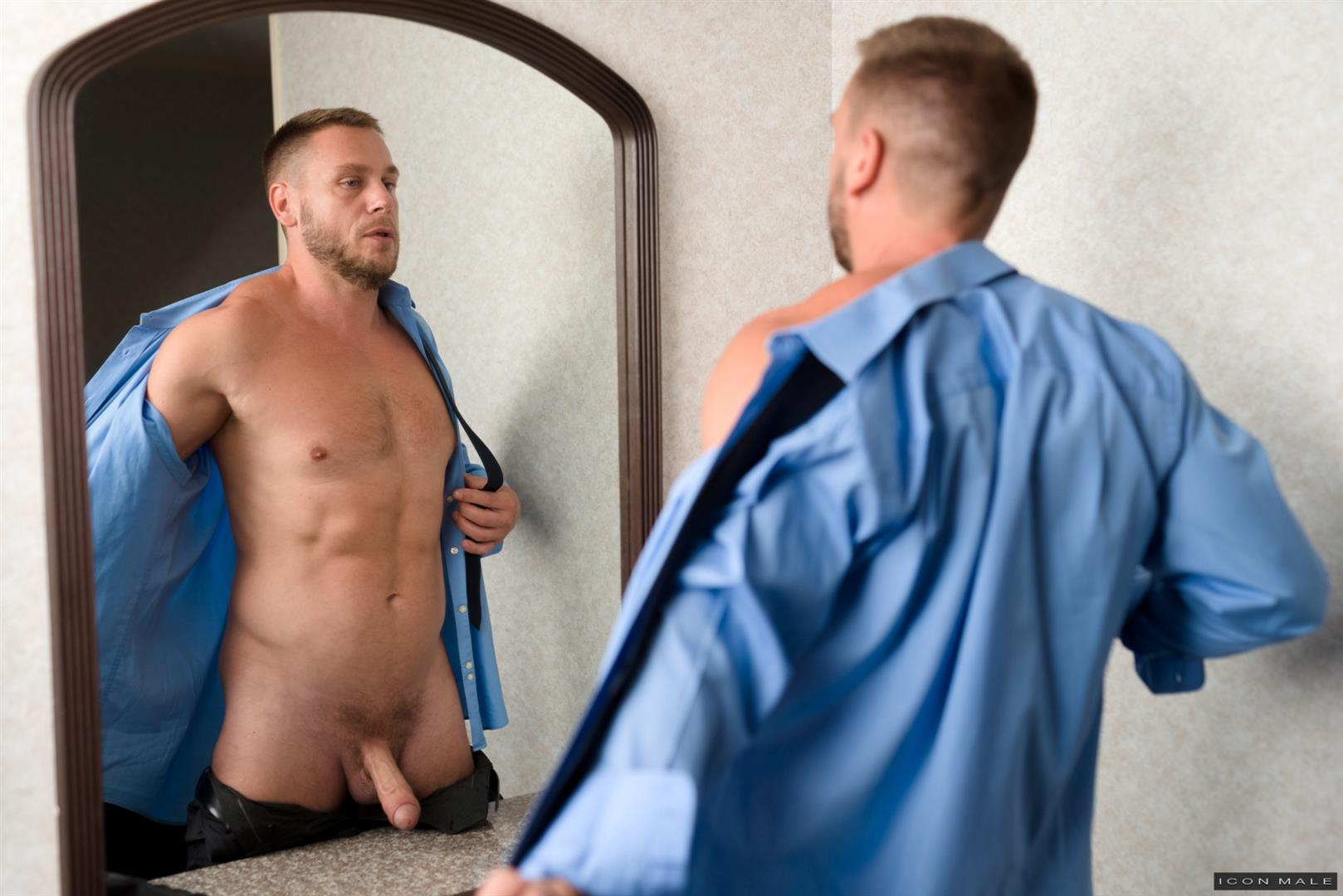 Icon-Male-Kory-Houston-and-Hans-Berlin-DILF-fucks-Twink-20 My Professor Fucked Me In The Ass With His Big Uncut Cock