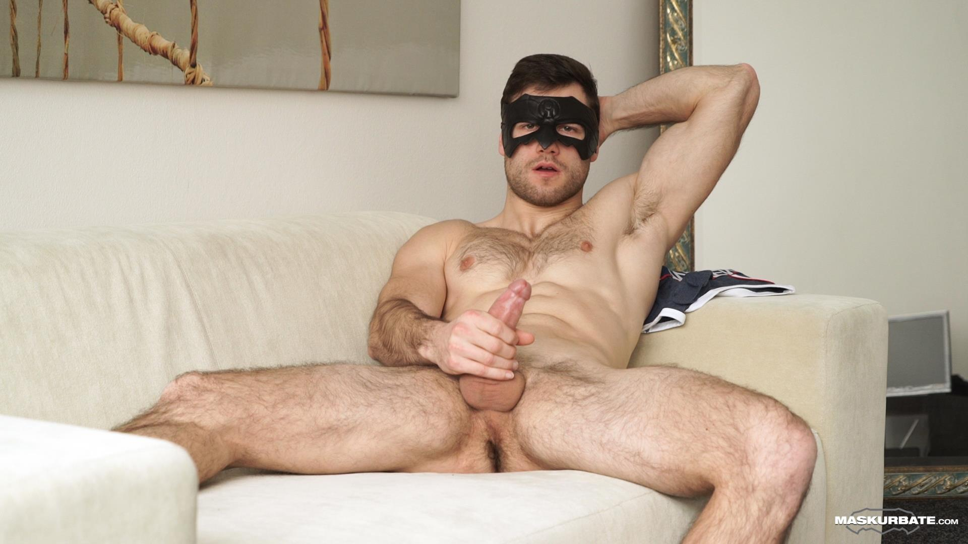 Maskurbate-Sam-Cuthan-Straight-Naked-Hairy-Muscle-Guy-Jerk-off-07 Straight Masked Hairy Muscle Hunk Strokes His Big Uncut Cock