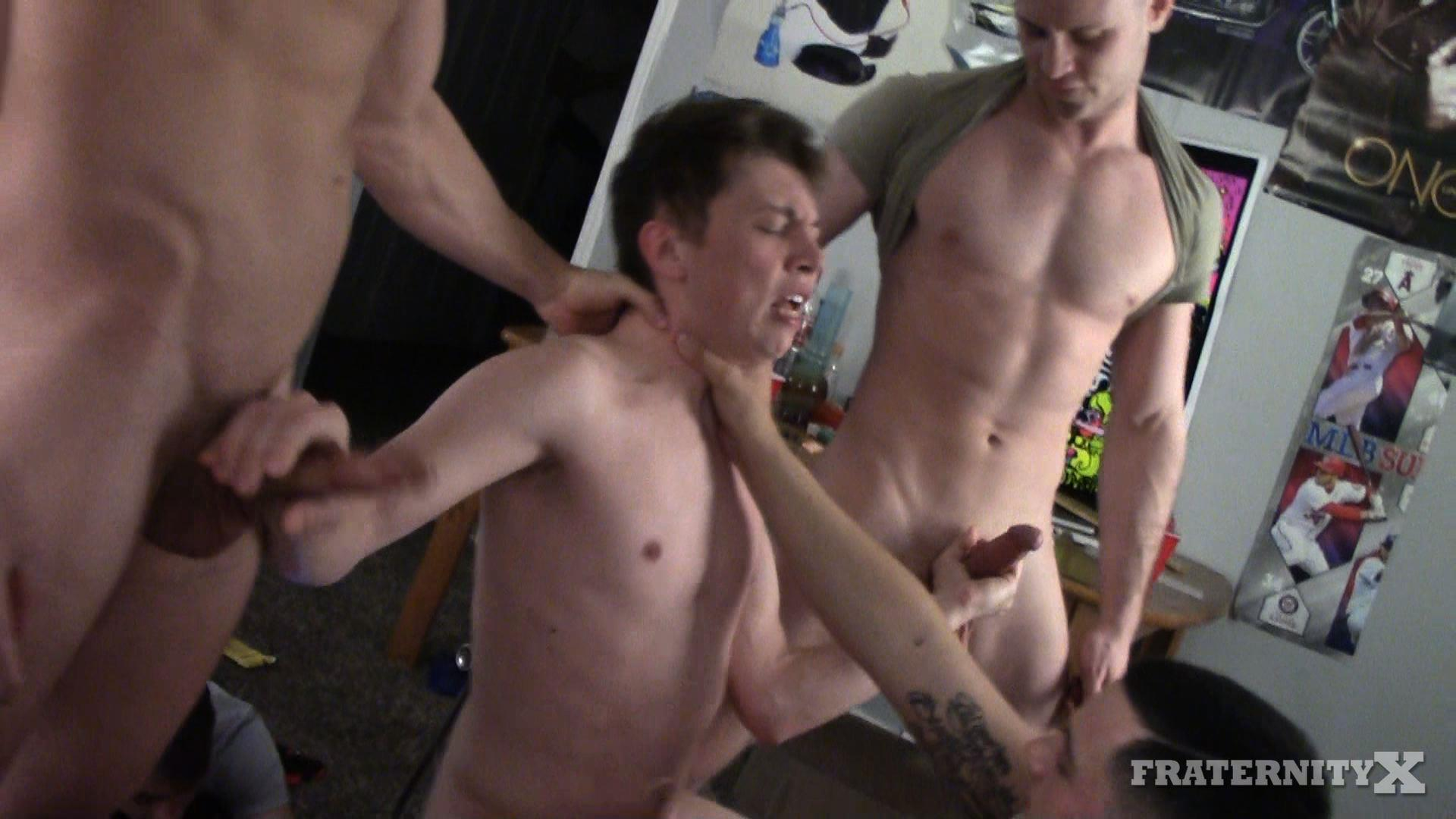 Fraternity-X-Naked-Frat-Guys-Bareback-Gang-Bang-Sex-Video-09 Visitor To The Fraternity House Gets Several Big Raw Dicks Up The Ass